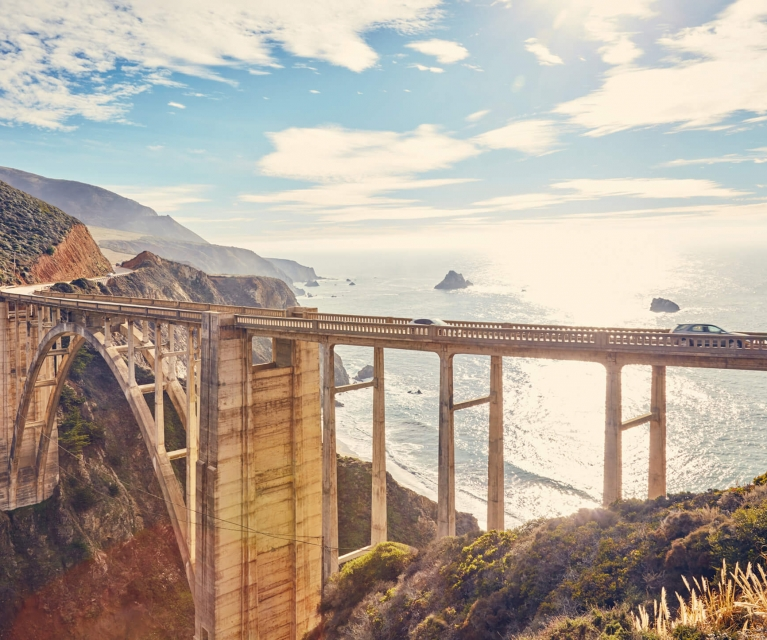 sur big bridge in california