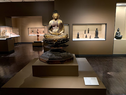 Asian Art Museum interior with buddha statues