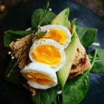 An egg sandwich on a plate