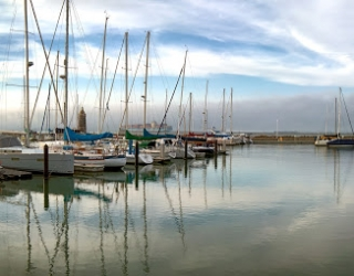 Marina Green with sailboats docked