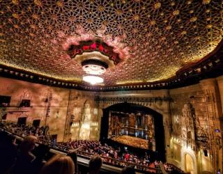 Orpheum theatre interior with full crowd