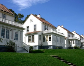 Presidio row of white houses