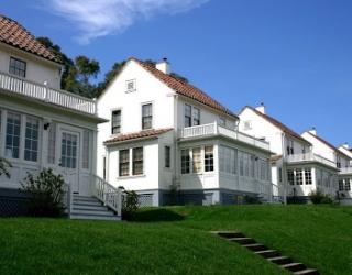 Presidio row of white houses