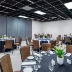 dining tables in meeting space