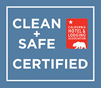 Clean + Safe Certified badge