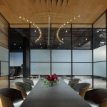 Meeting space with conference table